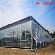 河北丰之源连栋玻璃温室骨架热镀锌椭圆钢管大棚养殖棚支架方管立柱水槽配件