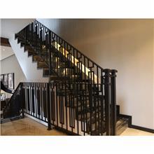 铝艺楼梯扶手 铝合金楼梯把手 别墅楼梯扶手 户外楼梯扶手