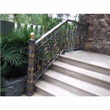 铝艺楼梯扶手 铝合金楼梯把手 别墅楼梯扶手 镂空楼梯扶手