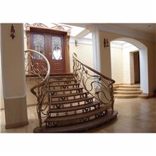 铝艺楼梯扶手 铝合金楼梯把手 别墅楼梯扶手 二楼楼梯扶手