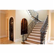 铝艺楼梯扶手 铝合金楼梯把手 别墅楼梯扶手