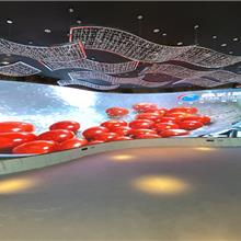 led柔性模组led p1.25 平米单价深圳柔性屏生产公司室内小间距LED显示屏异形