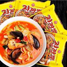 韩国奥土基海鲜拉面,多连包拉面,方便面,泡面,大碗面箱起批,批发产品