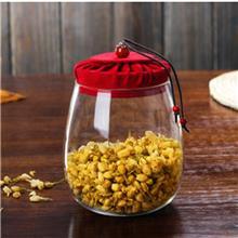 透明密封储物罐 纯手工锤纹玻璃茶叶罐 玻璃密封罐坚果罐子 支持定制 欢迎订购