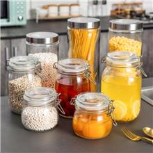 透明茶叶罐 透明密封储物罐 纯手工锤纹玻璃茶叶罐 规格多样 按需定制