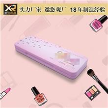 眼影铁盒 化妆品铁盒包装 长方形翻盖彩妆盒 眉笔铁盒 化妆工具盒