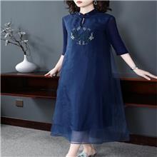 无界 2020夏季真丝连衣裙 长沙市的服装批发市场 广州服装批发十三行
