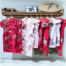 上海原单外贸旗袍货源 厂家直销尾货 短款旗袍拿货微信 一手货源女装