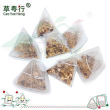 三角杯囊桂花苹果粒进口玉米纤维纱网三角茶包花果茶oem代加工