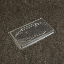 厂家现货供应女用眉笔吸塑内托 2支装透明pvc眉笔内托吸塑包装盒