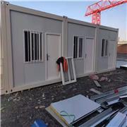 鲁恒打包箱厂批发 湖州打包箱房 工地玻璃幕墙打包箱定制 双层活动板房 办公箱房定做