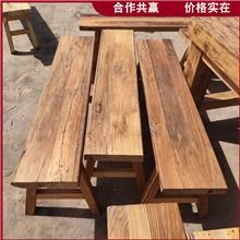 老榆木吧台桌面 实木仿古牌匾 旧门板拼花桌面 长期供应
