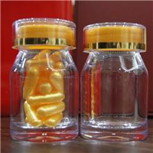 高透明金属盖PS塑料瓶 虫草保健食品包装瓶子 明洁 定制亚克力瓶 欢迎来电
