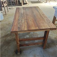 餐桌风化老榆木 定金发货 富蕴山东老榆木家具