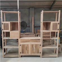 马龙老榆木八仙餐桌 厂家定做 老榆木茶桌椅定制