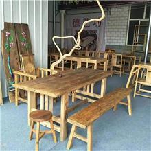 实木仿古色老榆木家具 厂家批发 明山榆木吧台