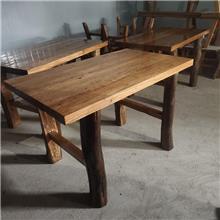 老榆木八仙餐桌 长期供应 南康原木拼接书架