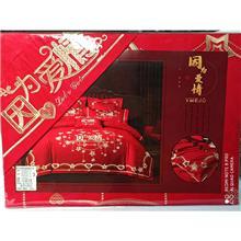 黑龙江批发婚庆床品四件套 床罩棉被枕头床盖 棉被空调被代理 厂家招商