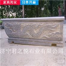 组装石头棺材 石雕石头棺材 晚霞红整体石棺 厂家报价