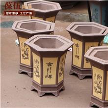 厂家批发 紫砂花盆 轻质陶瓷盆 陶瓷工艺品 葆伍陶瓷 品种多样