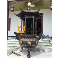 圆形带盖香炉   寺庙香炉定制   宗教祭祀香炉