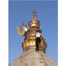 新品上线镂空设计铜塔刹城市景区塔刹宗教宝塔塔刹工艺