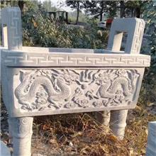 厂家直销可定制石雕香炉 寺庙宗教祭祀香炉供桌 青石香炉 花岗岩香炉