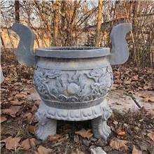 创意香炉 宏胜石业 青石仿古香炉 宗教祭祀香炉