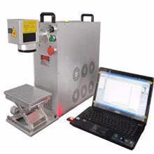 光纤激光打标机钥匙扣刻字机金属配件打标激光镭雕机设备定制