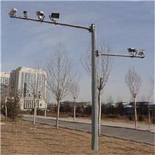 厂商供应 悬臂八角电子监控杆 六角监控杆 圆锥摄像机立杆
