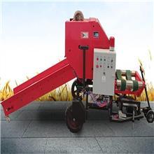 草料秸秆打捆包膜机 青贮饲料全自动打包机牧草苜蓿玉米打捆机
