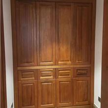 贵州省缅甸柚木家具定制厂家 缅甸柚木衣柜酒柜木门订做 全屋柚木整装工厂