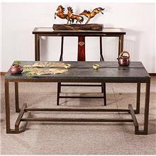新中式铜木家具组合 饭桌餐桌客厅桌椅定制 全屋铜艺整体家具定制