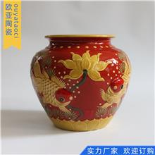按需定制 鸿运当头宜兴紫砂摆件 中式均陶堆花摆饰 赠礼佳品 陶瓷工艺品