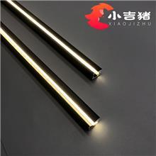 新款上市 硅胶条45°斜发光 衣柜橱柜线条灯 LED工程线性发光灯