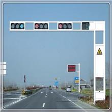 交通信号灯杆 交通道路警示LED指示灯 一体化人行道安全红绿灯
