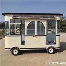 电动四轮早餐车 移动新能源多功能小吃房车 手推餐车