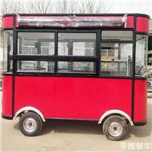 牵引拖挂手推餐车 仿古木制小吃车  无动力美食餐车 景区异型观光车