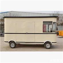 景区异型观光车 无动力美食餐车 仿古木制小吃车 牵引拖挂手推餐车
