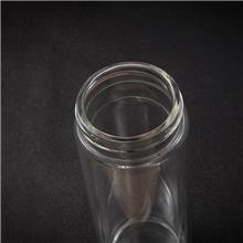 双层玻璃水杯品牌 双晗 订做玻璃杯 玻璃两用水杯