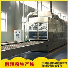集成式红薯方便粉条丝块生产线_工艺车间图片_封闭式即食粉条生产线