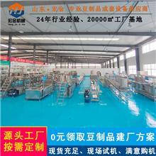 自动泼脑豆干机生产线 时产300斤豆腐干机械设备 宏金豆制品机械厂家