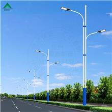 厂家生产12米高低臂双联路灯杆LED模组灯具