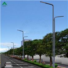 厂家太阳能道路灯双联杆100WLED金豆灯具照明