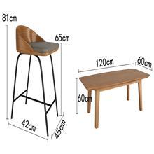 江门北欧咖啡厅铁吧椅