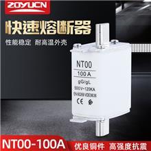 中宇低压熔断器NT00 100A熔芯熔断器芯子陶瓷保险丝RT16-00熔芯