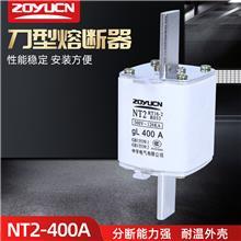 中宇低压熔断器NT2 400A熔芯熔断器陶瓷保险丝RT16-2 熔芯