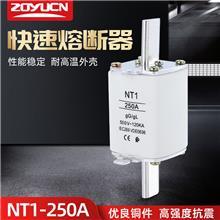 中宇低压熔断器NT1 250A熔芯熔断器芯子陶瓷保险丝RT16-1 熔芯