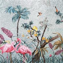 人物/风景冰玉马赛克剪切画厂家 家居酒店装饰背景墙艺术镶嵌马赛克