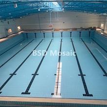 酒店泳池蓝色标准泳池砖批发厂家 拼花马赛克订制